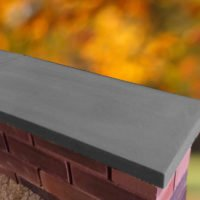 Charcoal-11 inch Twice Weathered Apex Coping Stone