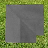 Charcoal-15 inch Twice Weathered Coping Stone Corner