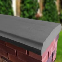 Charcoal - 15inch Twice Weathered Bevelled Coping