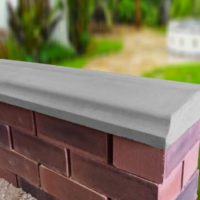 Grey - 10.5 inch Twice Weathered Bevelled Coping
