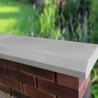 Grey 11 Inch Chamfered Flat Coping Stones