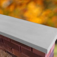 Grey-11 inch Twice Weathered Apex Coping Stone