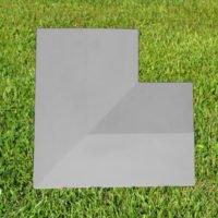 Grey-11 inch Twice Weathered Coping Stone Corner