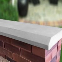 Grey 13 inch Chamfered Flat Coping