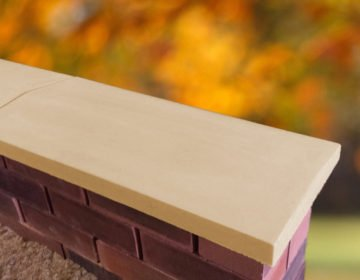 Sandstone-11 inch Twice Weathered Apex Coping Stone