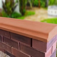 Terracotta - 10.5 inch Twice Weathered Bevelled Coping