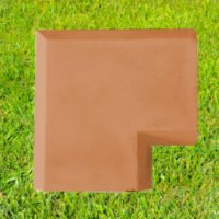 Terracotta-11 inch Chamfered Coping Corner