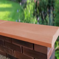 Terracotta 11 inch Chamfered Flat Coping