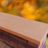 Terracotta-11 inch Twice Weathered Apex Coping Stone
