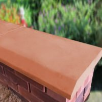 Terracotta 15 inch Chamfered Flat Coping