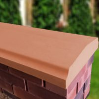 Terracotta - 15inch Twice Weathered Bevelled Coping
