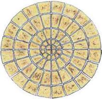 large patio circles