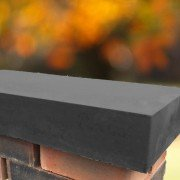 charcoal 11 inch flat coping stones