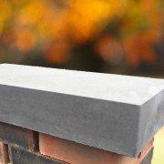 grey 11 inch flat coping stones