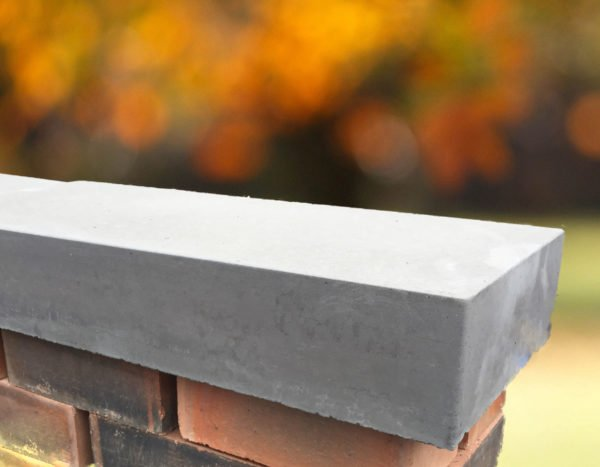 grey 11 inch flat coping stones