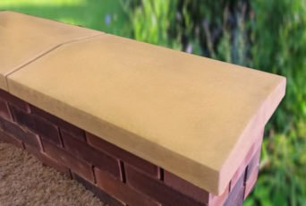 15 inch Twice Weathered Apex Wall Copings Sandstone