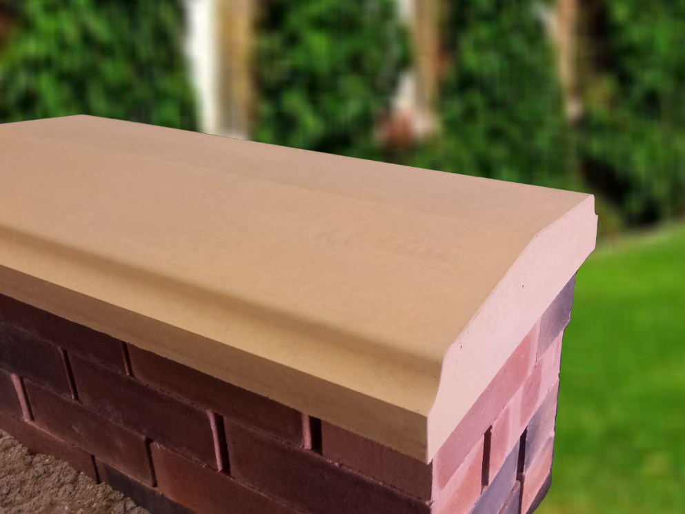 15 inch Twice Weathered Bevelled Coping Stones