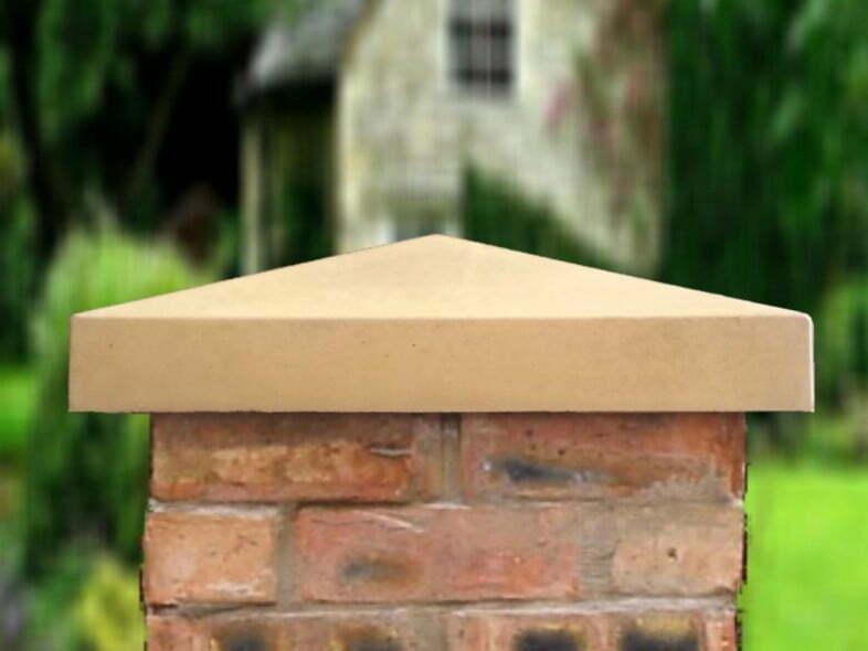 21 inch Traditional Pillar Caps in Sandstone
