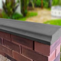 Charcoal - 10.5 inch Twice Weathered Bevelled Coping
