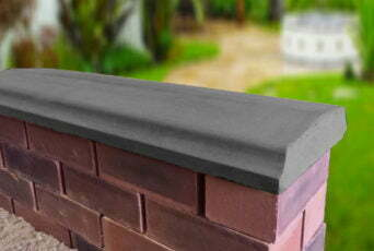 Charcoal 10.5 inch Twice Weathered Bevelled Coping