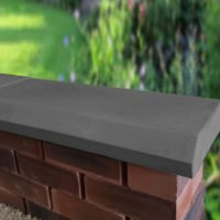 Charcoal 11 inch Chamfered Flat Coping