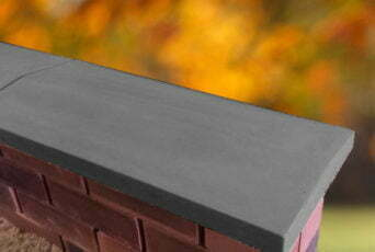 Charcoal 11 inch Twice Weathered Apex Coping Stone