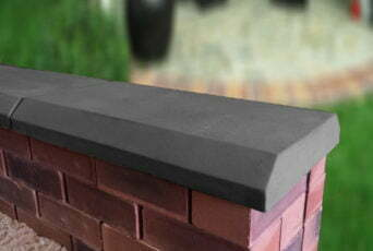 Charcoal 13 inch Chamfered Flat Coping