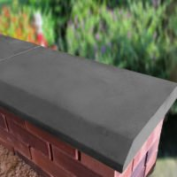 Charcoal 15 inch Chamfered Flat Coping