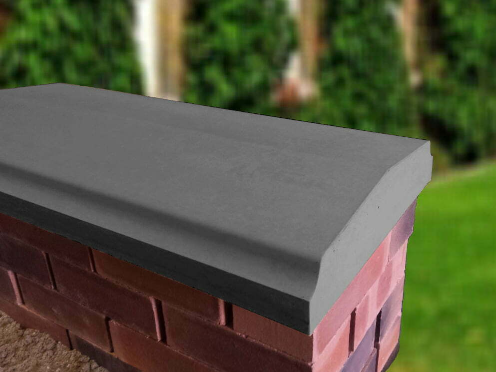 Charcoal 15 inch Twice Weathered Bevelled Coping