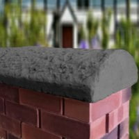 Charcoal 16inch Cottage Wall Coping
