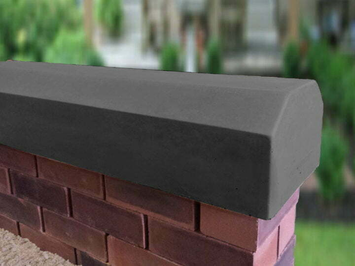 charcoal 7inch deep victorian coping stones