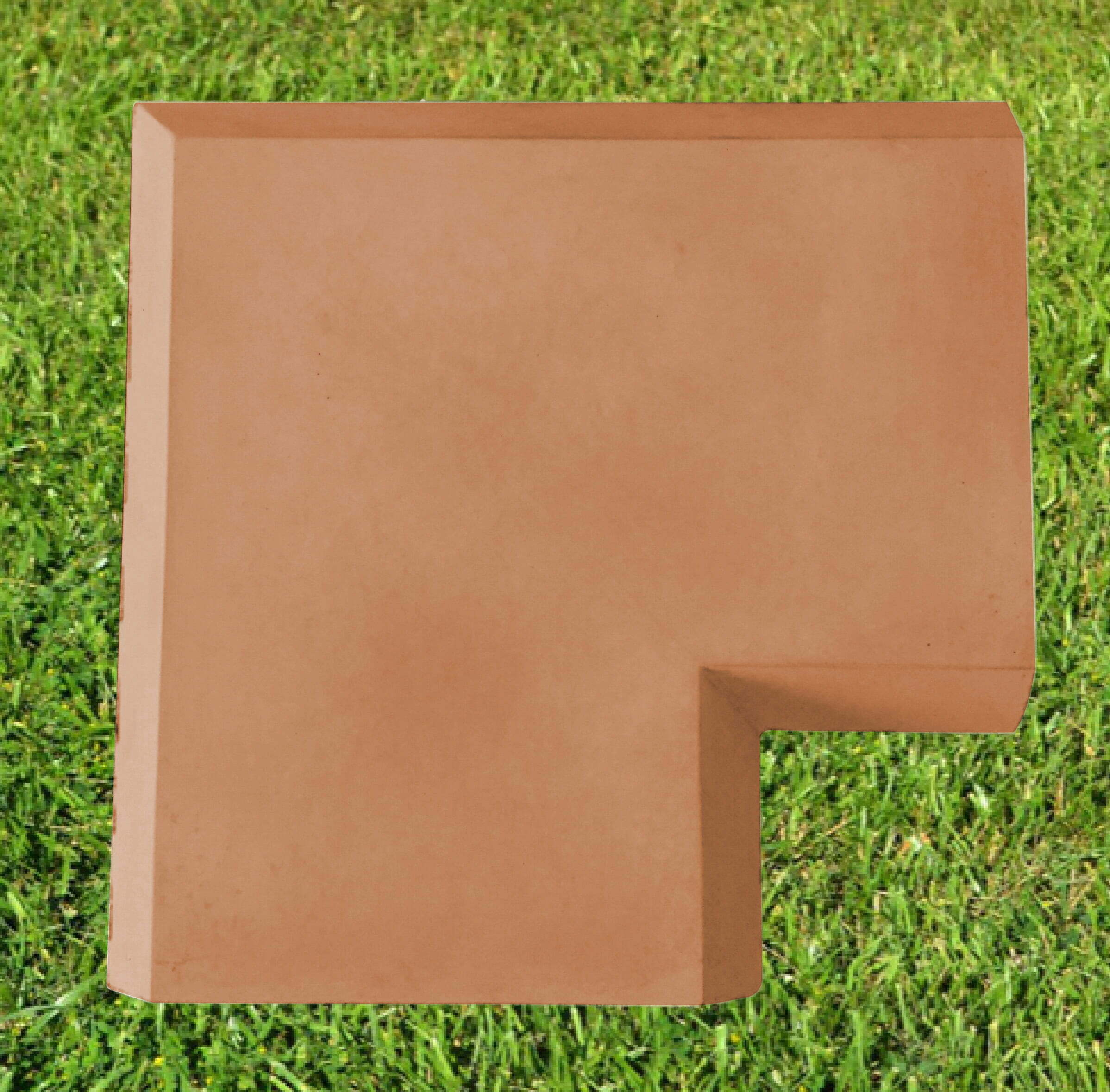 Terracotta 15 inch corner coping stone