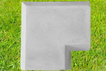 Grey 11 inch Chamfered Coping Corner