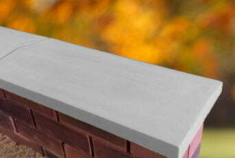 Grey 11 inch Twice Weathered Apex Coping Stone