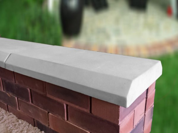 grey 13 inch chamfered flat coping stones