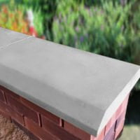 Grey 15 inch Chamfered Flat Coping