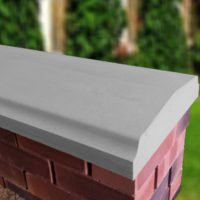 Grey - 15inch Twice Weathered Bevelled Coping