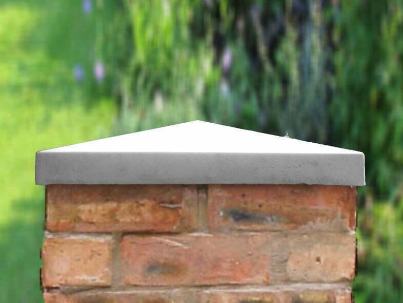 Grey 18 inch pillar caps