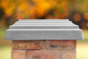 Grey 20 inch pillar caps