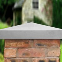 Grey-21 inch Traditional Pier Cap