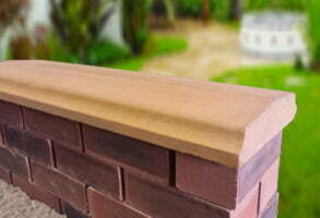 sandstone 10.5 inch twice weathered bevelled coping stones
