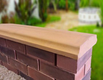 Sandstone - 10.5 inch Twice Weathered Bevelled Coping