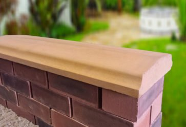 twice weathered bevelled coping stones