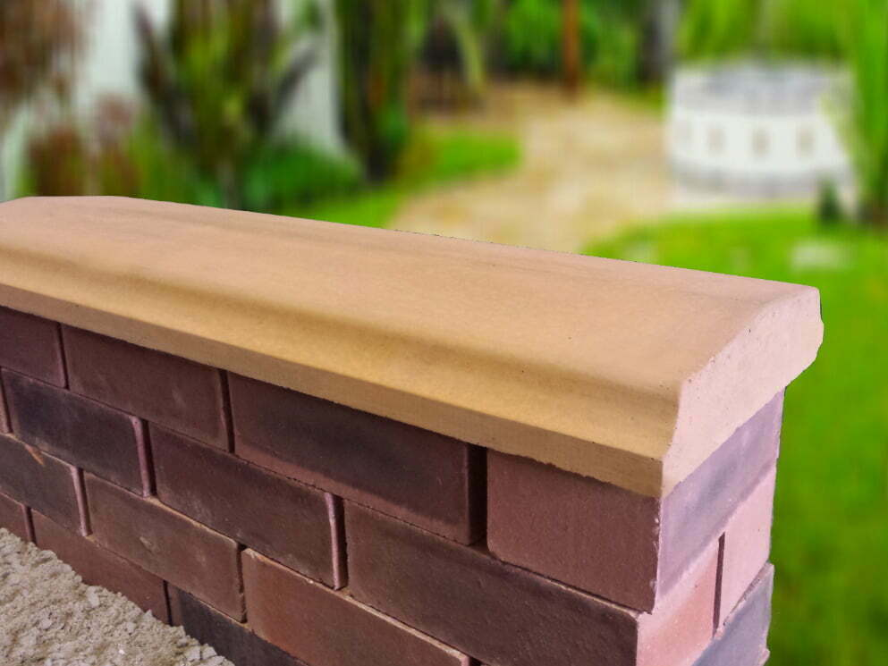 Twice Weathered Bevelled Coping Stones From Classical
