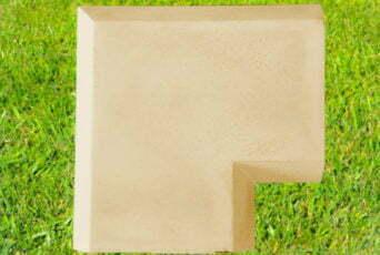 Sandstone 11 inch Chamfered Coping Corner
