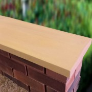 sandstone 11 inch twice weathered apex coping stones