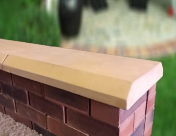 Sandstone 13 inch 13 inch Chamfered Flat Coping