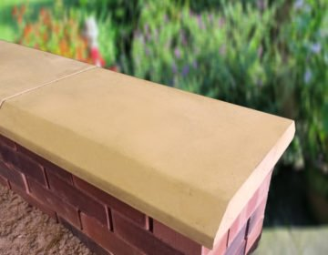Sandstone 15 inch Chamfered Flat Coping