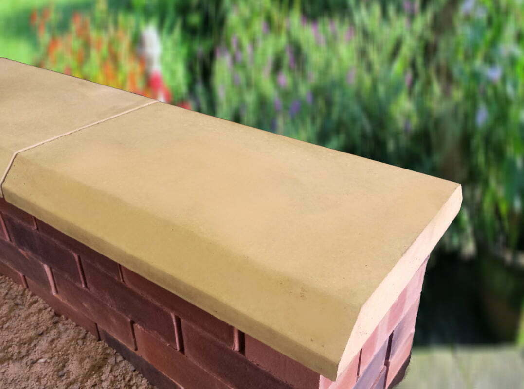 sandstone 15 inch chamfered coping stones