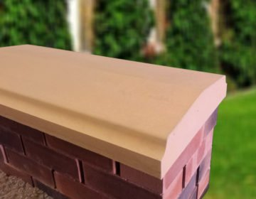 Sandstone - 15inch Twice Weathered Bevelled Coping